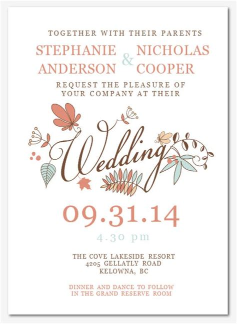 wedding invitation wording diy wedding invitation