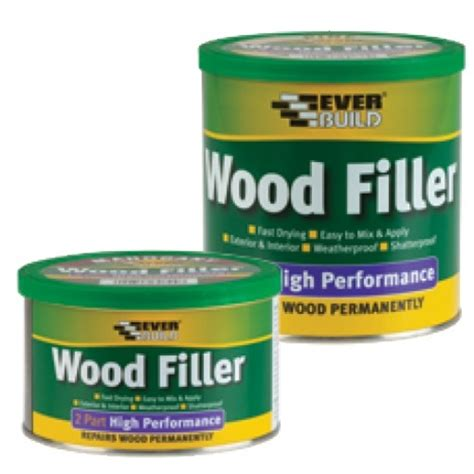 high performance wood filler oak 500 gr everbuild