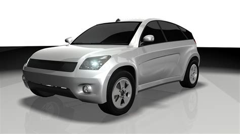 model toyota 3d model car toyota suv car aaa vr ar low poly
