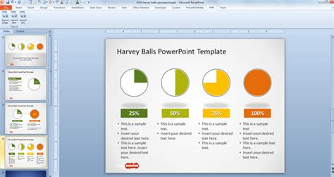 using a powerpoint template free simple harvey balls for powerpoint free powerpoint