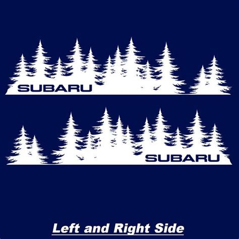 subaru legacy decals these custom subaru forest silhouette decals are cut from