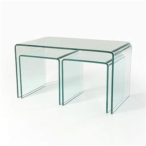 clear glass nesting coffee tables ct040 in stock