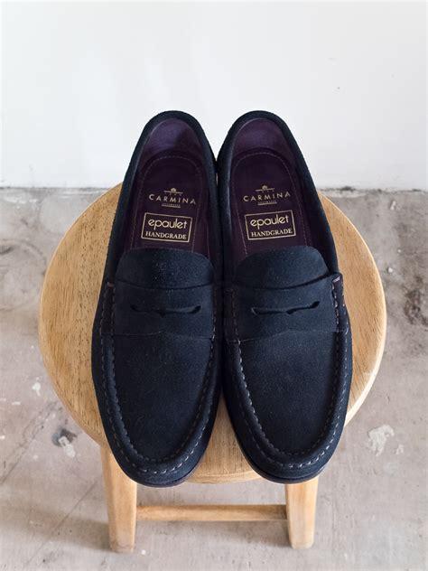 carmina loafer carmina hawthorne navy suede loafer on xim last