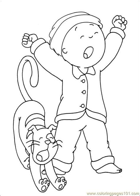 caillou coloring pages pdf caillou coloring pages 026