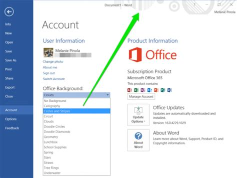 change background in microsoft office how to change your office 2016 theme