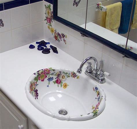 hand painted bathroom sinks 15 best traditional bathroom ideas with hand painted sinks