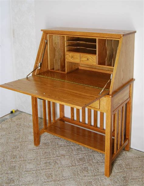 Secretarial Desk Oak Desk De Vries Woodcrafters