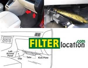 mazda speed 3 cabin air filter location