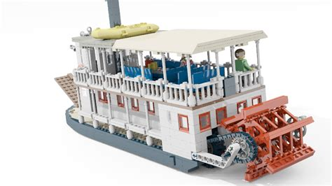 lego river boat lego ideas product ideas small sternwheeled river