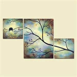 Birds bees in tree branch large wall art from contemporaryearthar