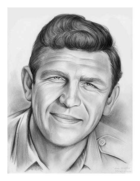 Southern Home Decor Blogs by Andy Griffith Drawing By Greg Joens