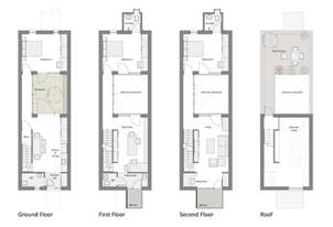 plans for houses courtyard row house marc medland architect building