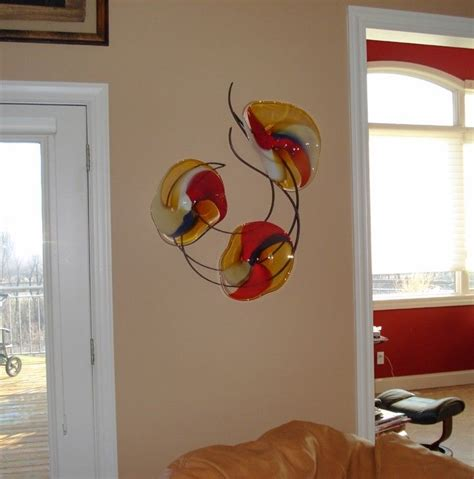 wall art designs blown glass wall art picture of hand custom made blown glass and metal wall art by bonnie m