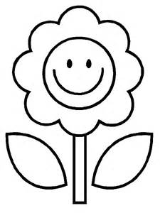 Easy Flower Coloring Pages sketch template