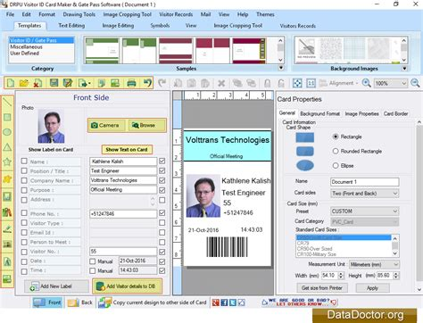 pattern visitor exle download id card designing application at free download 64