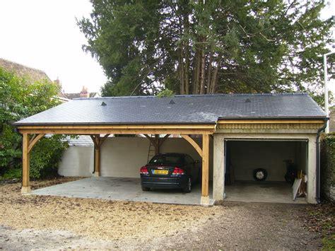 grand garage bois garage en chene 2 voitures le du menuisier de la
