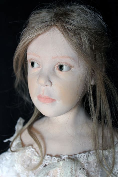 painting ooak cernit art doll  elisa gallea