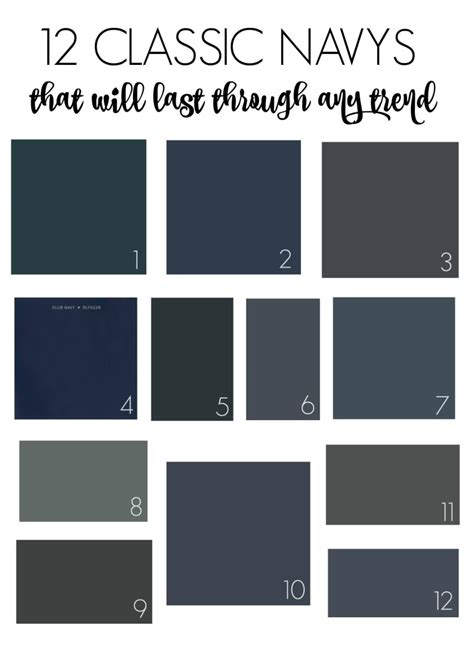12 classic navys that will last through any trend navy paint colors navy paint and city farmhouse