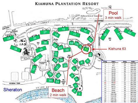 kauai resort map kiahuna paradise