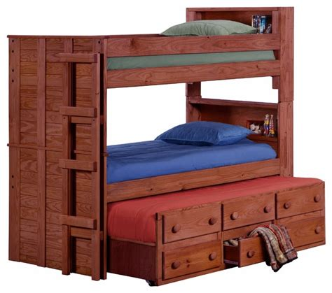 extra long twin bunk beds thornhill extra long twin over twin bunk bed mahogany