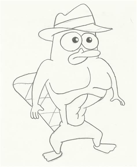 perry the platypus coloring pages gangster coloring pages