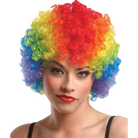 With Wig On by Rainbow Clown Wig For Sale