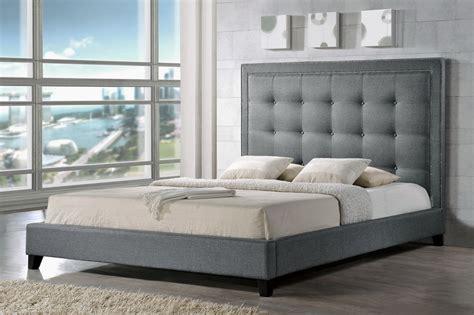 King Size Furniture by Baxton Studio Hirst Gray Platform Bed King Size