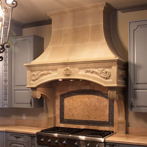 Florentine Kitchen Cast Stone Range Hoods   Old World