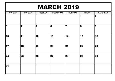 monthly printable calendar march calendar