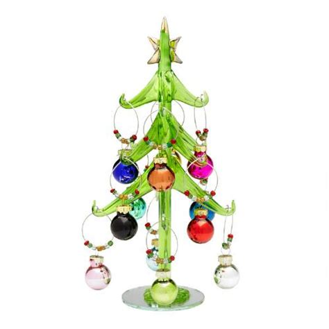 christmas tree and ornaments wine charms christmas tree