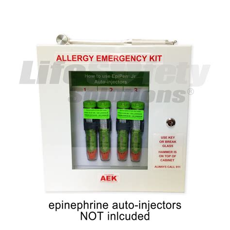 allergy emergency kit wall cabinet