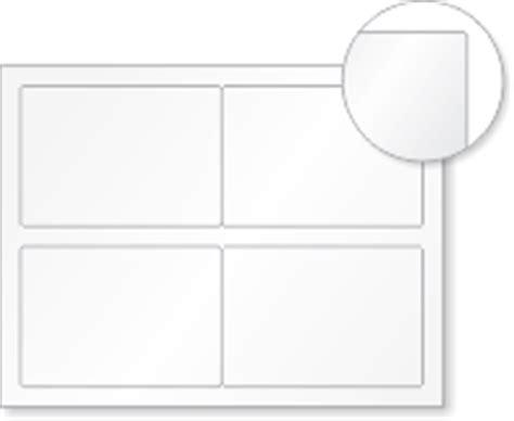 blank printable vinyl blank vinyl laser printable 4 labels sheet 3 5in x 5in