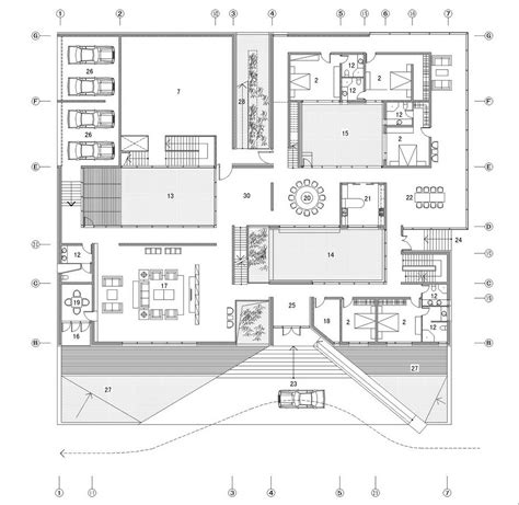 architect plan gallery of the concave house tao architect studio 21