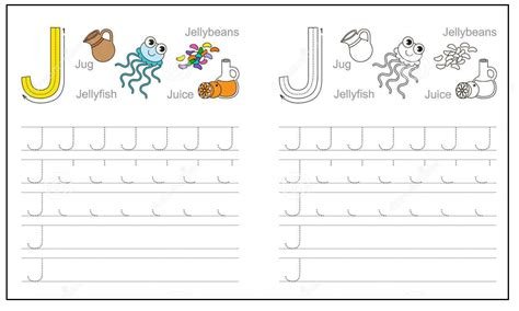 Letter J Worksheets by Colored Letter J Worksheets Alphabet J Sound Handwriting