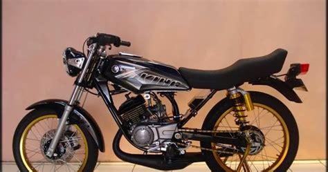 Rx King Hitam Modifikasi by Modifikasi Rx King Warna Hitam Modifikasi Motor Kawasaki