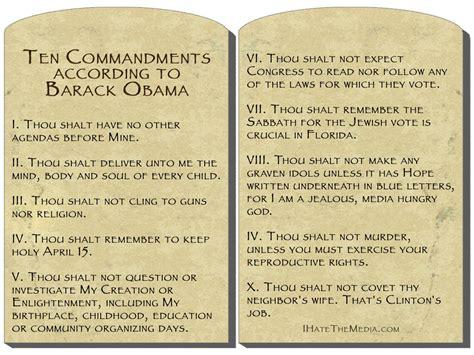 The Ten Commandments the ten commandments according to barack obama