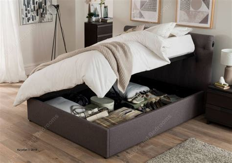 kaydian versace 5ft kingsize grey fabric automatic ottoman bed by kaydian
