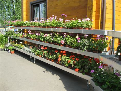 garden centre display benches ebb and flow system benches and display products for