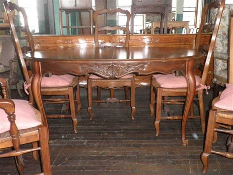 320a drexel heritage 1969 dining table and set of 6
