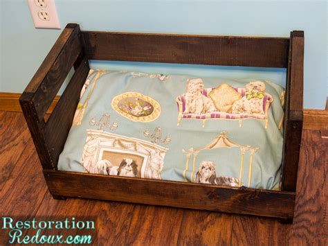 crate dog bed wine crate turned dog bed makeover and the thrift benefit