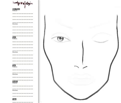 19 best images about face chart blank on pinterest qvc
