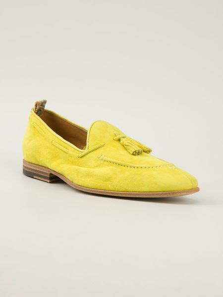 yellow loafers raparo tassel loafer in yellow for yellow orange
