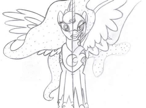 coloring page nightmare moon princess celestia and nightmare moon coloring pages