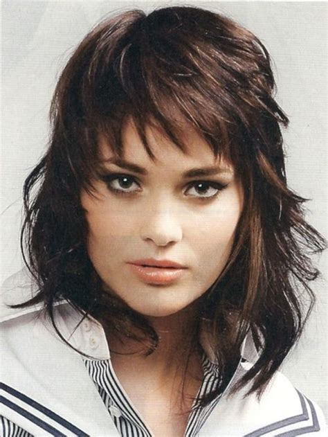 shaggy bob haircuts round face shag hairstyles for round faces long shag haircut image