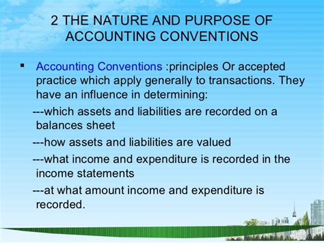 Accounting In An Mba by Accounting Conventions Ppt Mba Finance