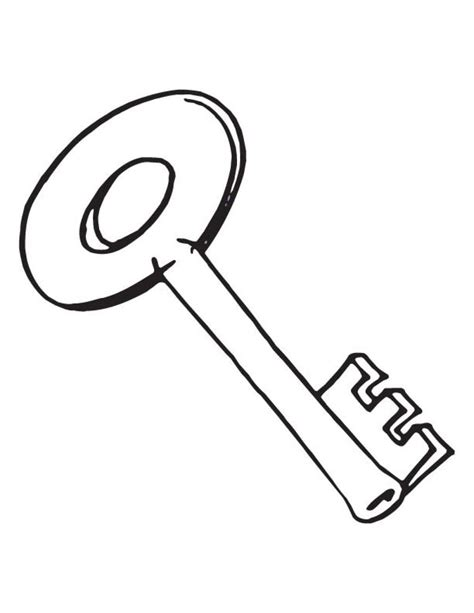 large key coloring page free key page coloring pages mcanalley coloring free