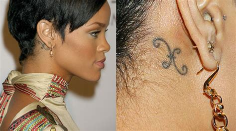 aries tattoo behind ear celebrity zodiac tattoos astrology spirituality