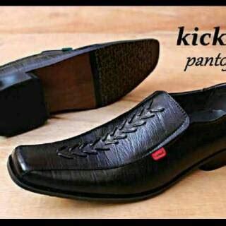 Shoes Formal 388 Hitam sepatu pantofel murah kickers kulit asli motif teratai