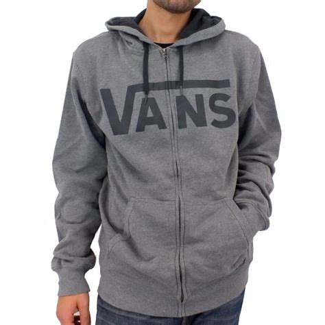 Hoodie Sweater Jumper Vans Of The Wall vj6k vans classic hoodie jacket jumper sweatshirt s top zip various colours ebay