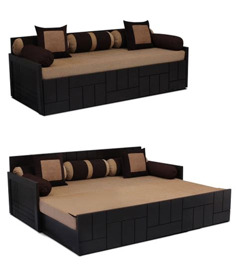 sofa cum bed flipkart auspicious nelson brwon sofa cum bed with two cushions and